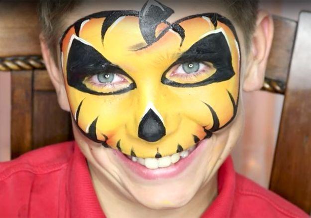 10 maquillages d halloween pour enfants adorables ou terrifiants elle. Black Bedroom Furniture Sets. Home Design Ideas