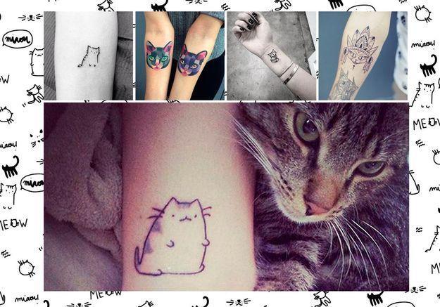 Tatouage chat : les 20 plus jolies inspirations Pinterest