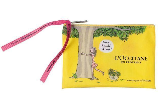 Cadeau : la trousse Karité de Soledad pour ELLE et L'Occitane