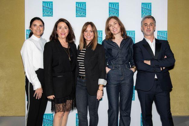 Valérie Salomon, Elisabeth Martorell, Erin Doherty, Claire Léost et Edouard Dutour (ELLE)