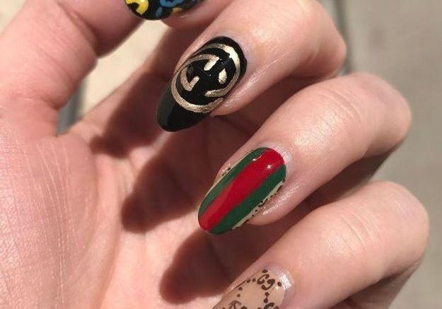 Manucure logo Gucci