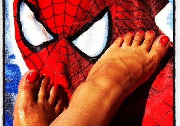 La pédicure Spiderman de sosoleil69