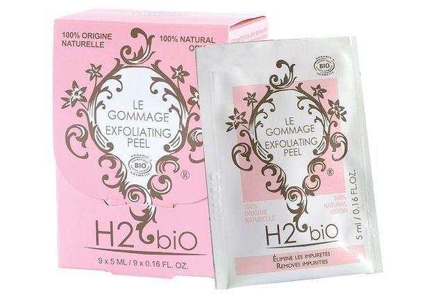 Gommage unidose, H2 Bio, 19 € les 9 pochettes unidoses de 5 ml