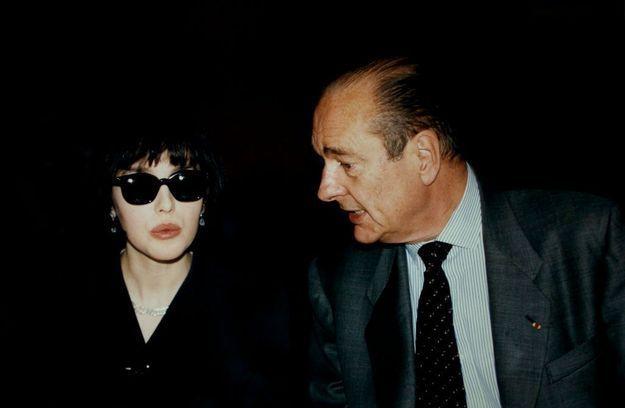 Isabelle Adjani et Jacques Chirac en 1997