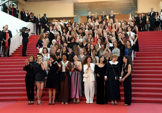 Cannes 2018 : Instant féministe pour la montée des marches des « Filles du Soleil »