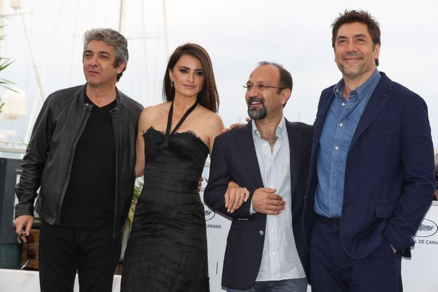 Ricardo Darin, Penelope Cruz, Asghar Farhadi et Javier Bardem