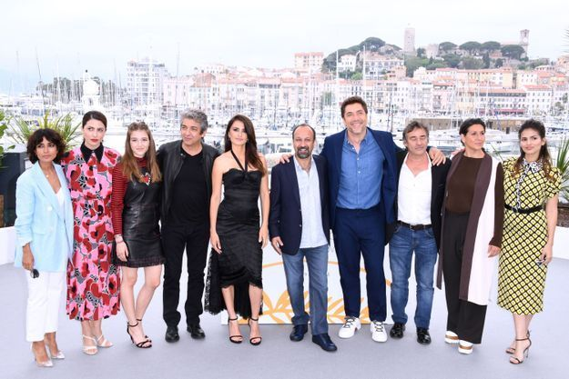 Toute l'équipe du film « Everybody Knows » a posé ensemble