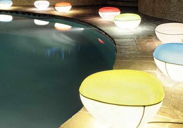 Lampe de sol Pill Low, O Luce, Made in Design