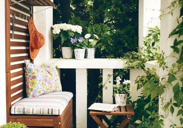 Un balcon esprit campagne