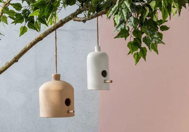 Un nichoir à oiseaux minimaliste