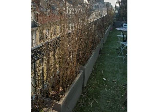 Le garden staging d'un balcon
