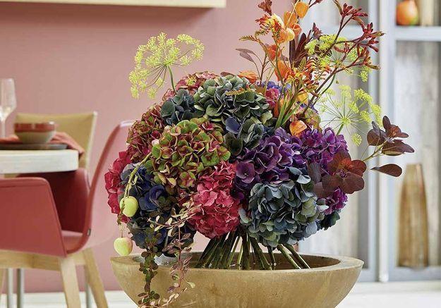Inspiration : 7 idées de compositions à créer soi-même avec des hortensias séchés