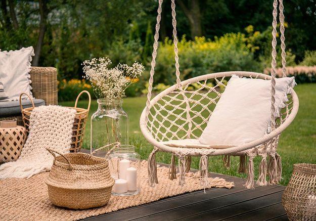 Le mobilier d'un jardin zen