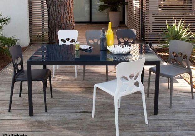 Le mobilier d'un jardin contemporain