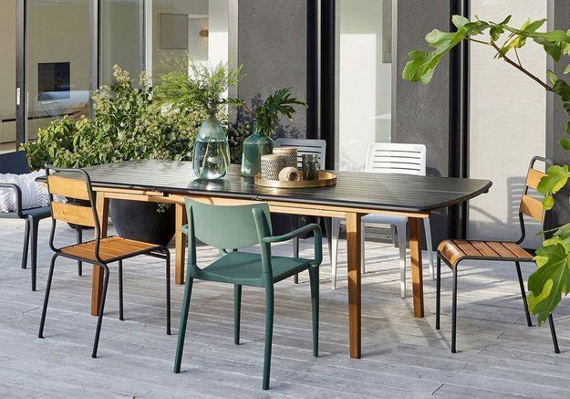 Table à manger extensible de jardin La Redoute Interieurs