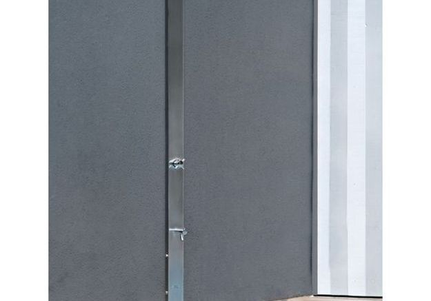 Douche de jardin métallique