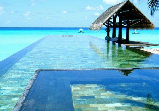 Piscine aux Maldives