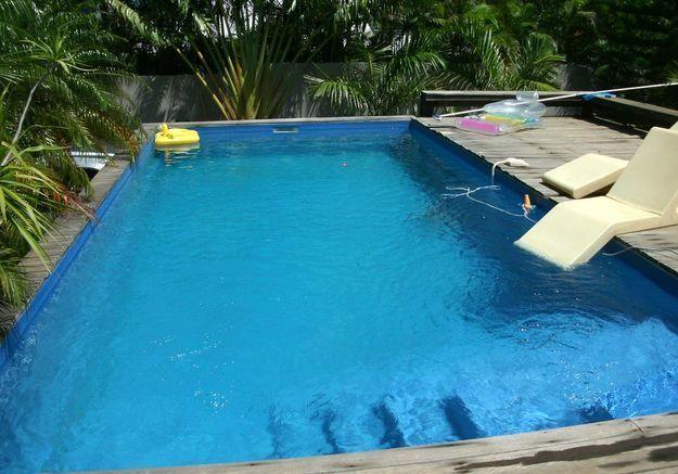 Avant n°2 : une piscine en partie hors sol