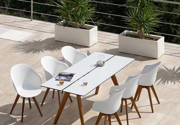 Une table de jardin style scandinave