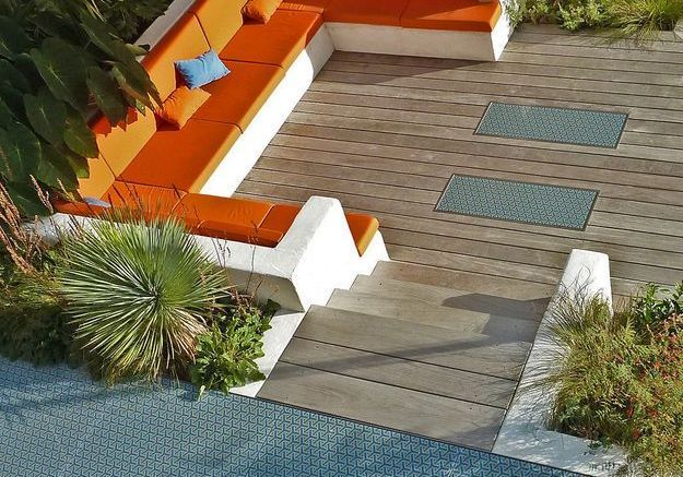 Un revêtement de terrasse original