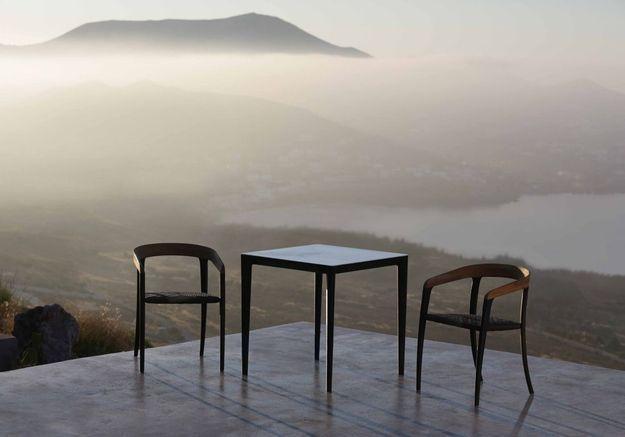 Une terrasse zen à la vue magistrale