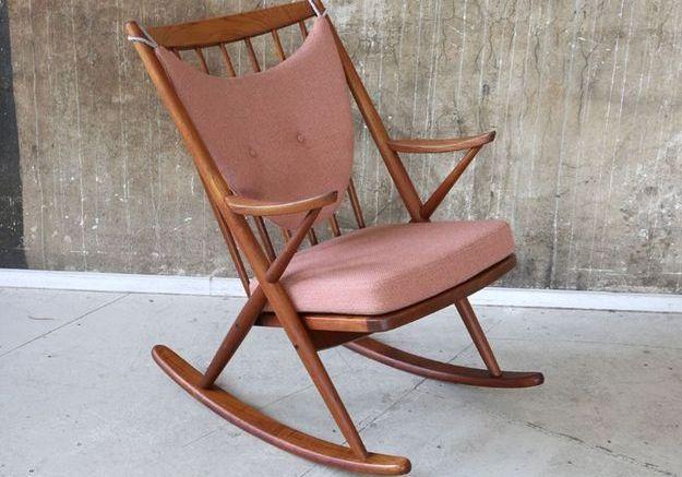 Rocking Chair Mid Century par Frank Reenskaug pour Bramin, Danemark