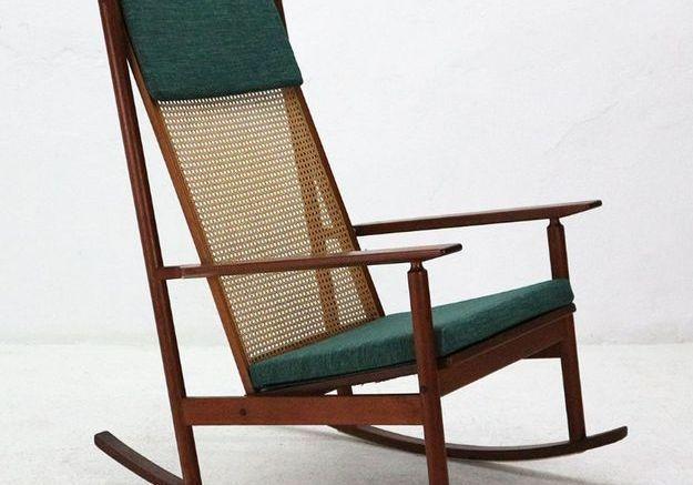 Rocking Chair Modèle 532 Vintage en Teck par Hans Olsen pour Juul Kristensen