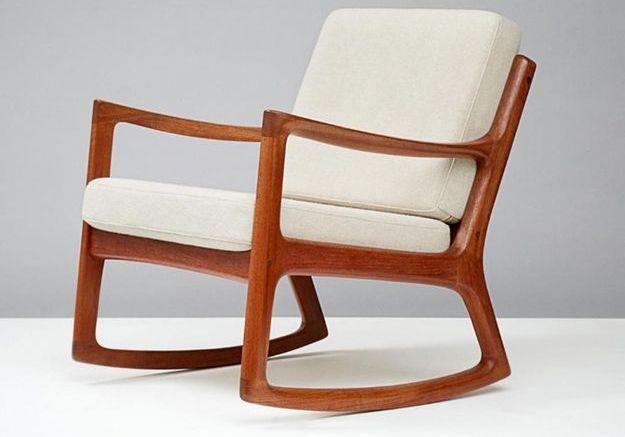 Rocking Chair Senator en Teck par Ole Wanscher pour France & Son, 1960s