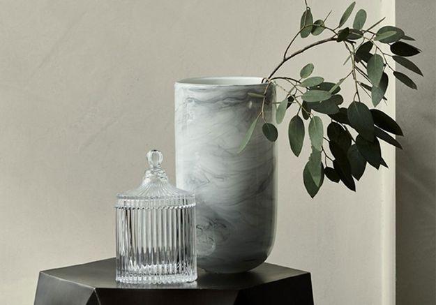Vase effet marbre