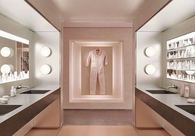 L'esprit vitrine dans la salle de bains