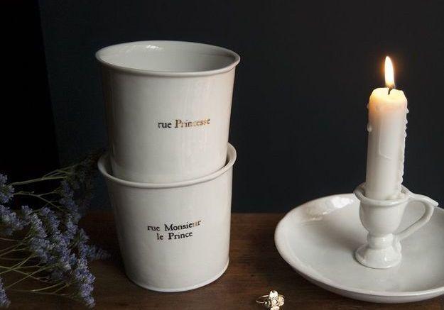 Des gobelets en porcelaine Alix D. Reynis comme de Noël déco