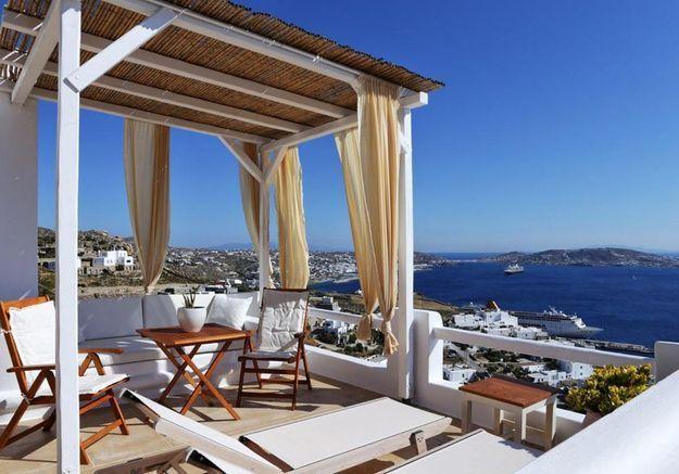 Une maison cycladique à Mykonos en Grèce