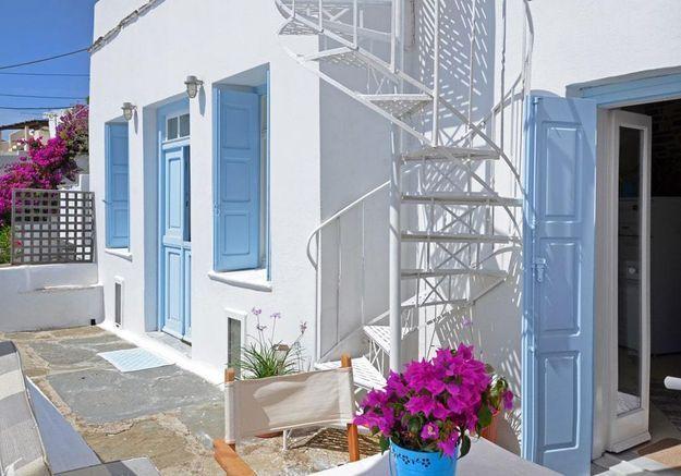 Une maison cycladique à Triantaros en Grèce