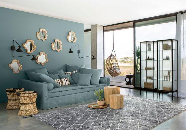Accorder son canapé à la couleur de son mur