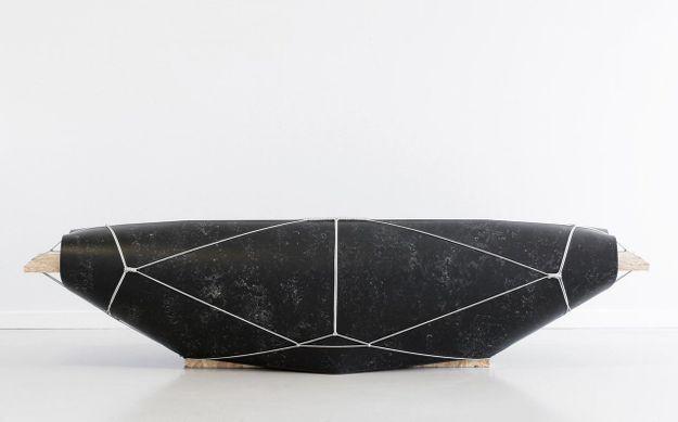 Banc Bound Noir par Maarten Kolk & Guus Kusters