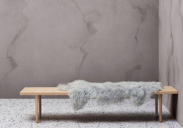 Banc en bois minimaliste