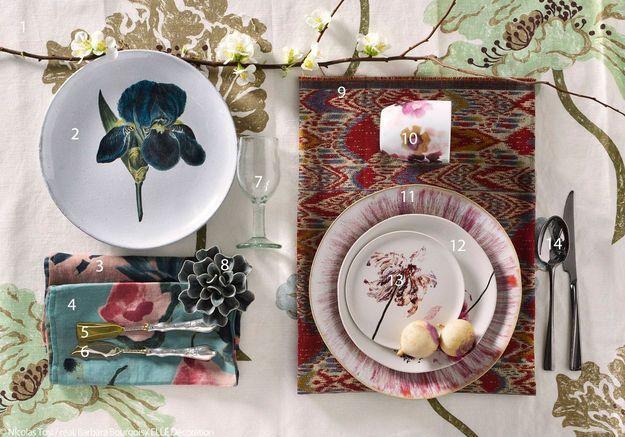 Art de la table fleuri