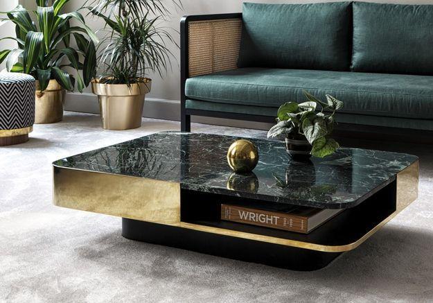 Table basse dorée