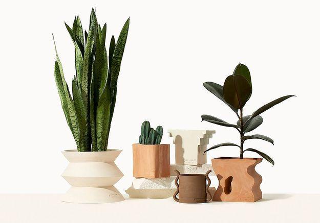 #ELLEDécoCrush : les plantes et pots arty By Charlot
