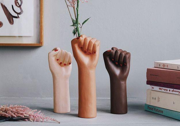 #ELLEDécoCrush : un vase girl power pour les femmes du monde