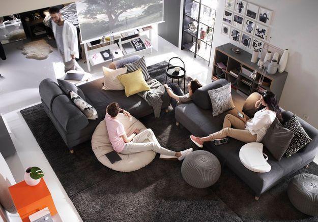 Un salon entièrement modulable