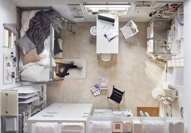 Un studio à l'espace optimisé