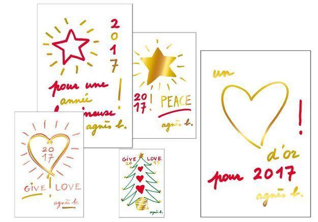 L'inspiration du jour : les jolies cartes agnès b pour Unicef