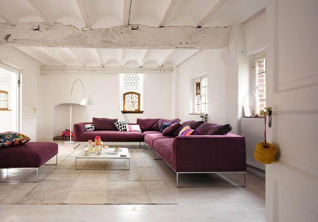 Le canapé violet de Cor