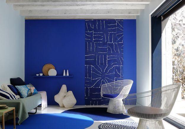 Le salon bleu majorelle de Zoplan