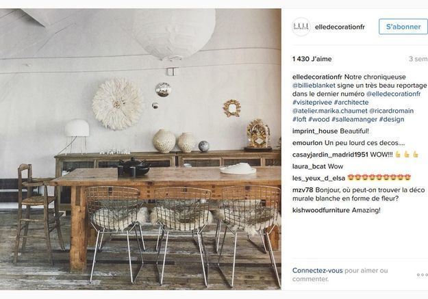 Photo Instagram @elledecorationfr