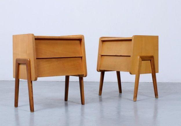 Tables de Chevet en Bouleau, Danemark, 1950s, Set de 2