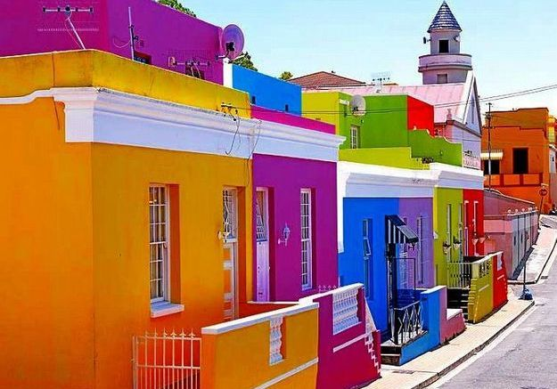 Maison colorée à Cap Town, Afrique du Sud