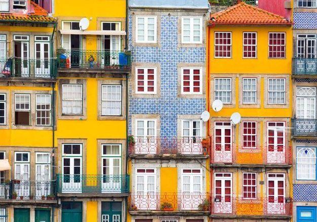Maison colorée à Porto, Portugal