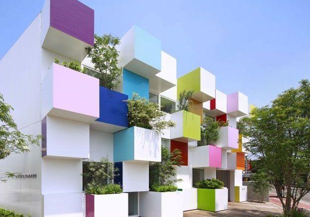 Maison colorée à Tokyo, Japon
